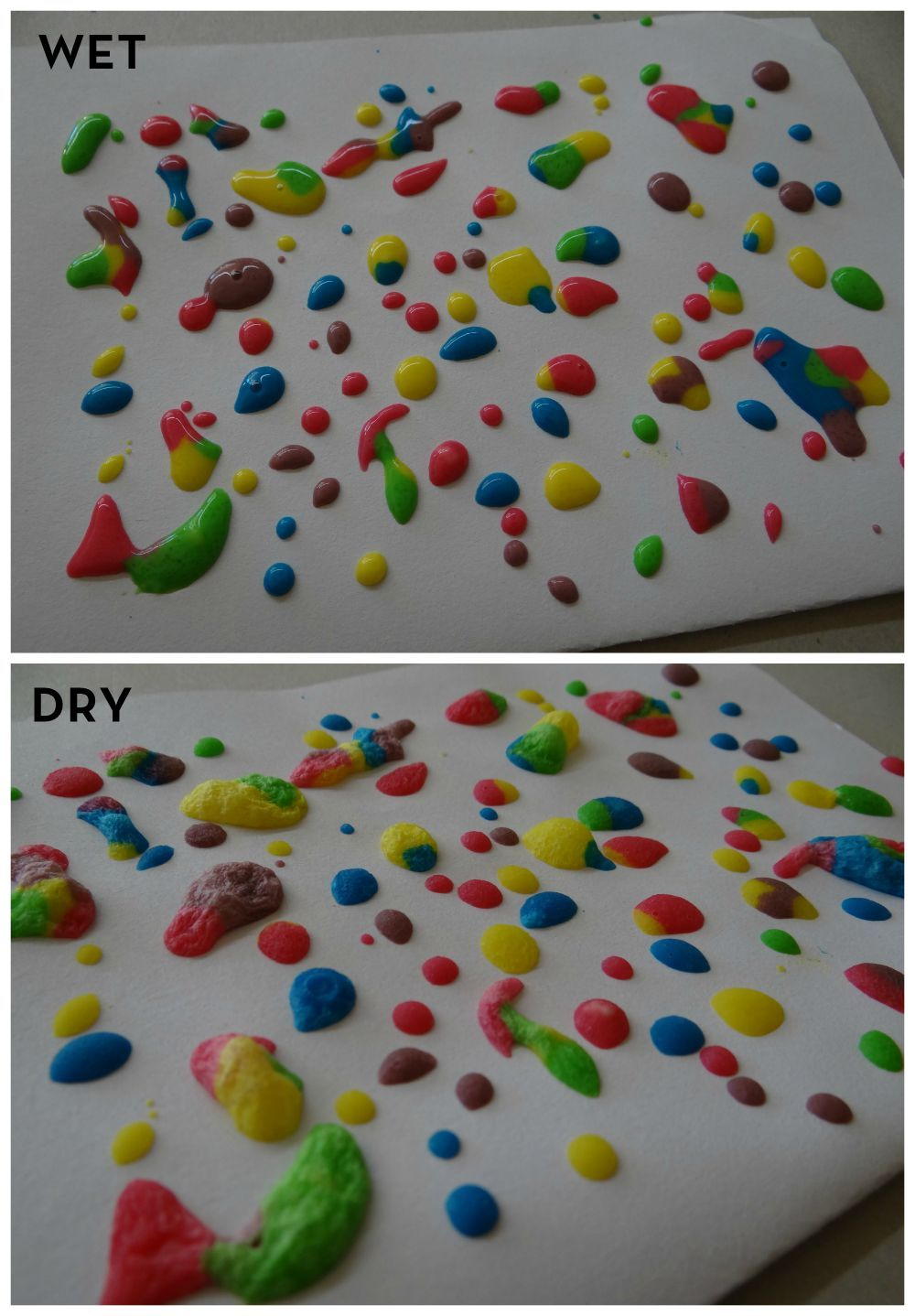 Puff Paint - Wet vs Dry