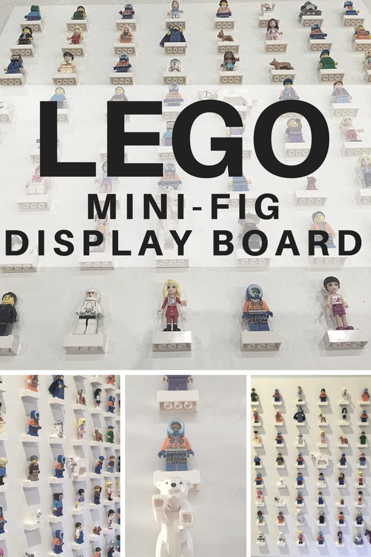 How to make a Lego Mini-Fig Display Board