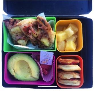 lunch box idea - English muffin mini pizza