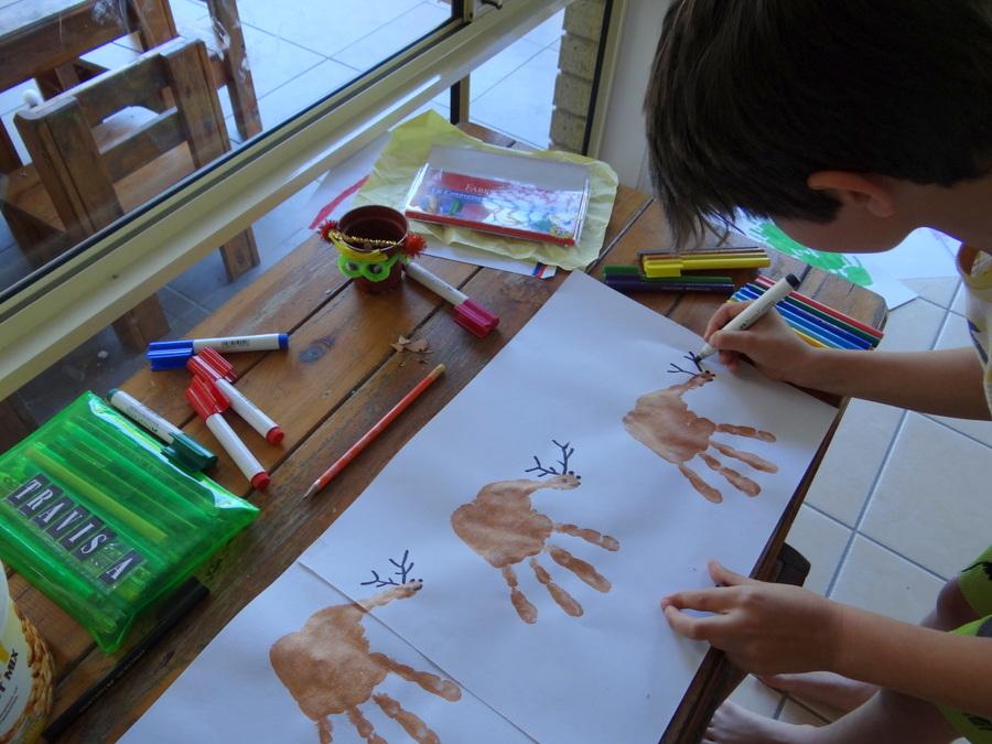 Christmas Craft - Reindeer & Sleigh Foot/Hand Print