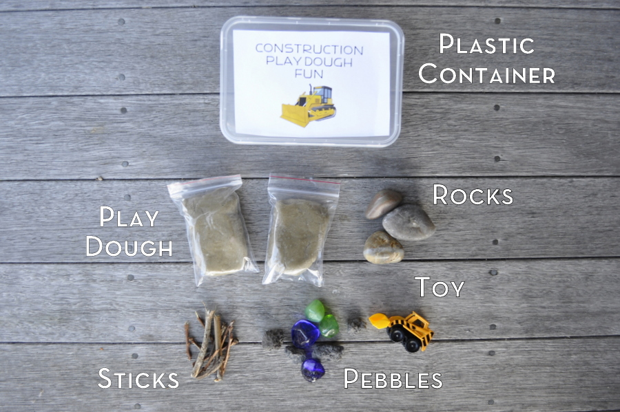 Homemade gift idea - play dough kit