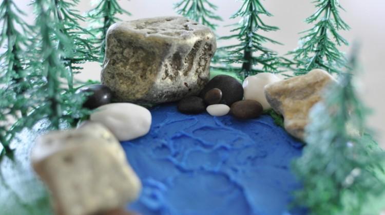 Waterfall Scene Birthday Cake