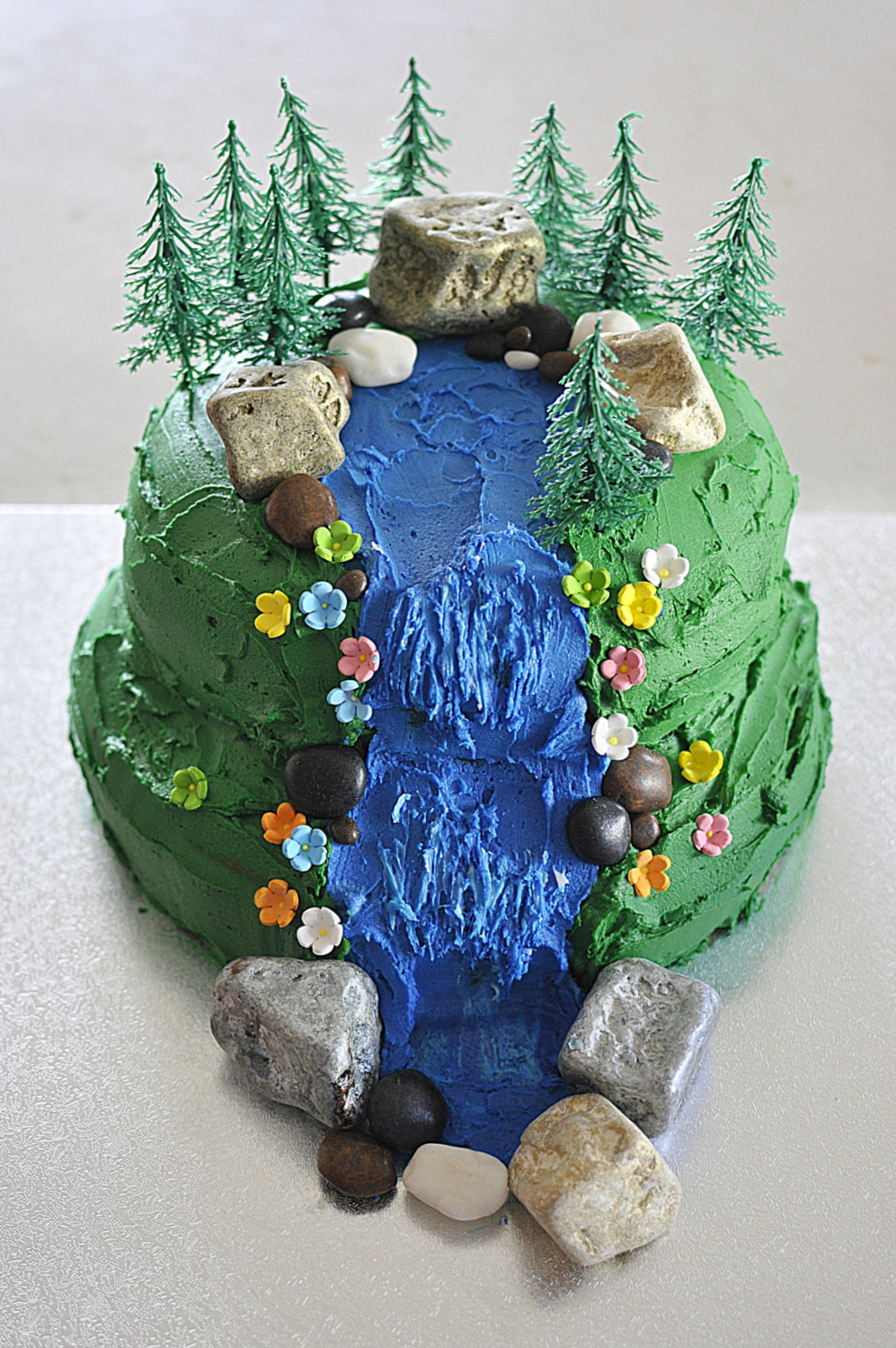 Waterfall scene cake - it's easier than you think!
