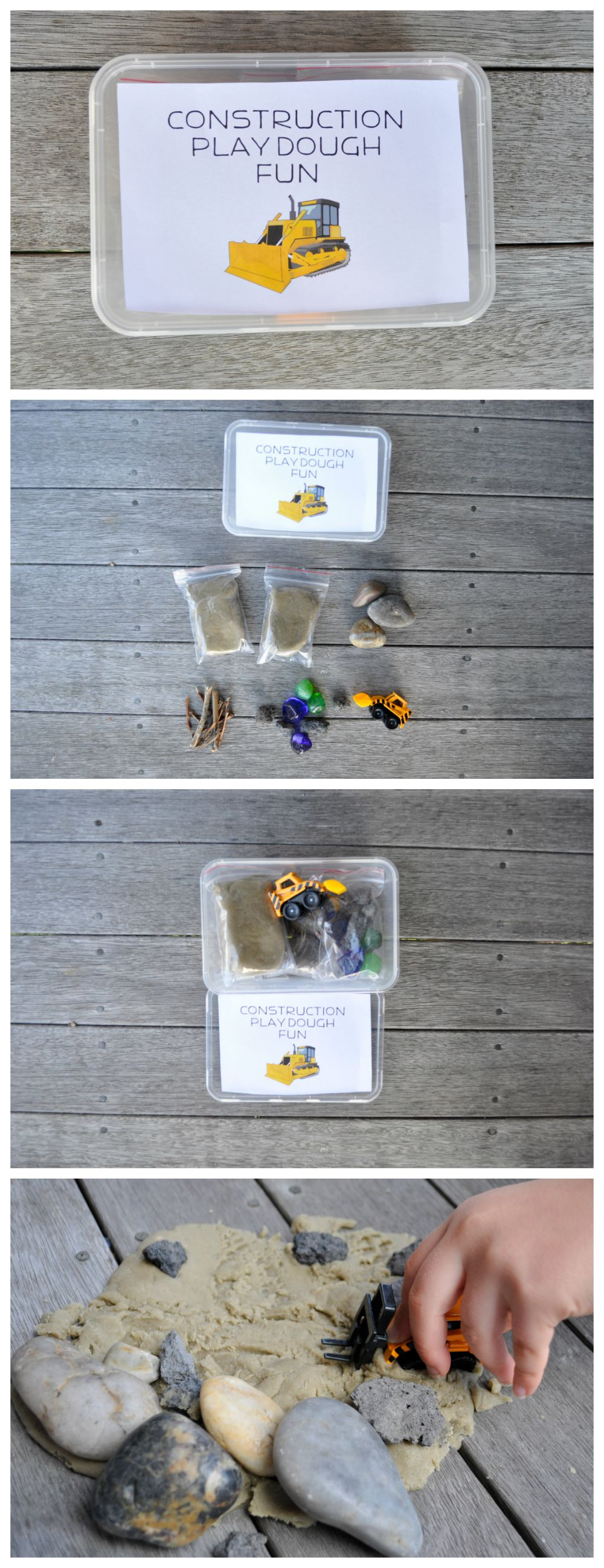 Homemade gift idea - play dough kit - could be any theme you can think of!