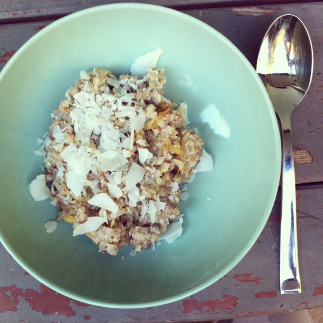 Overnight breakfast ideas - apple and cinnamon buckwheat porridge