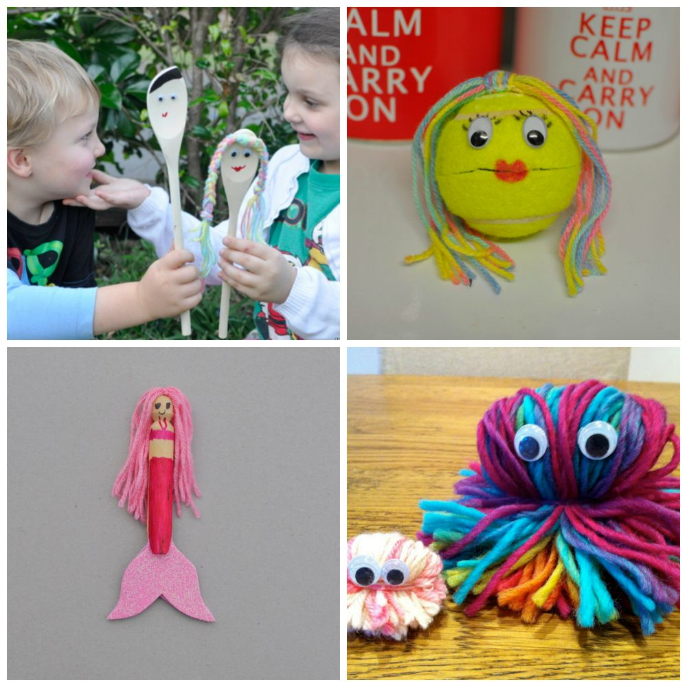 Craft Ideas for kids using wool