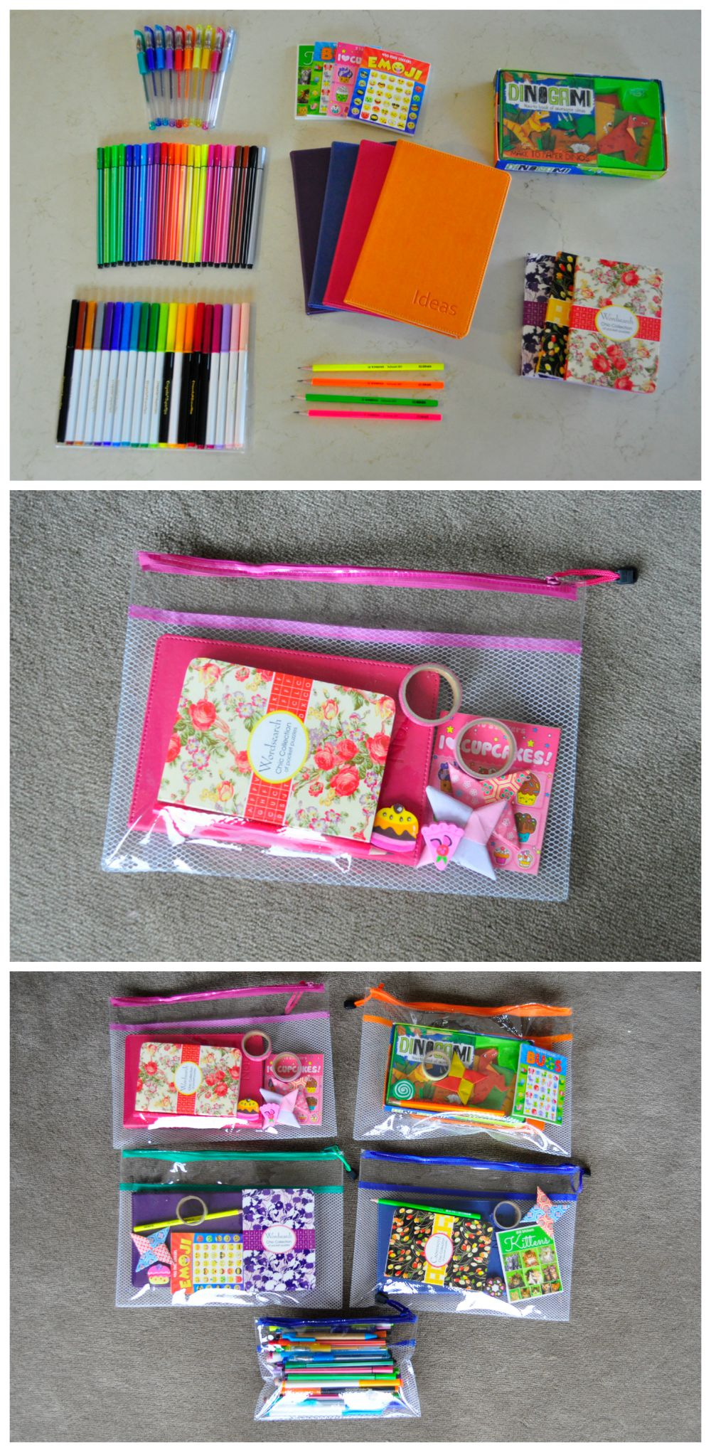 Stationery Travel Packs for Kids