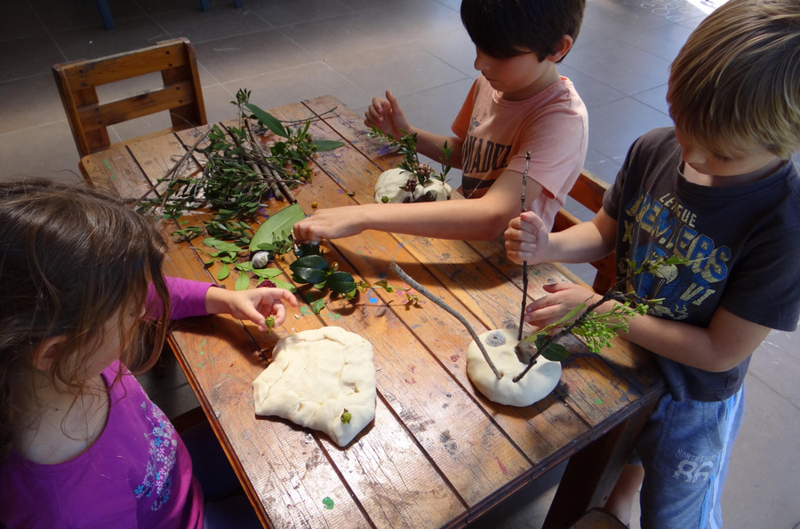 nature craft - playdough nature landscapes