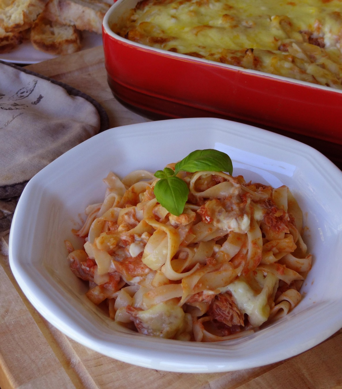 Easy Family Meal - Tune Fettuccine Bake