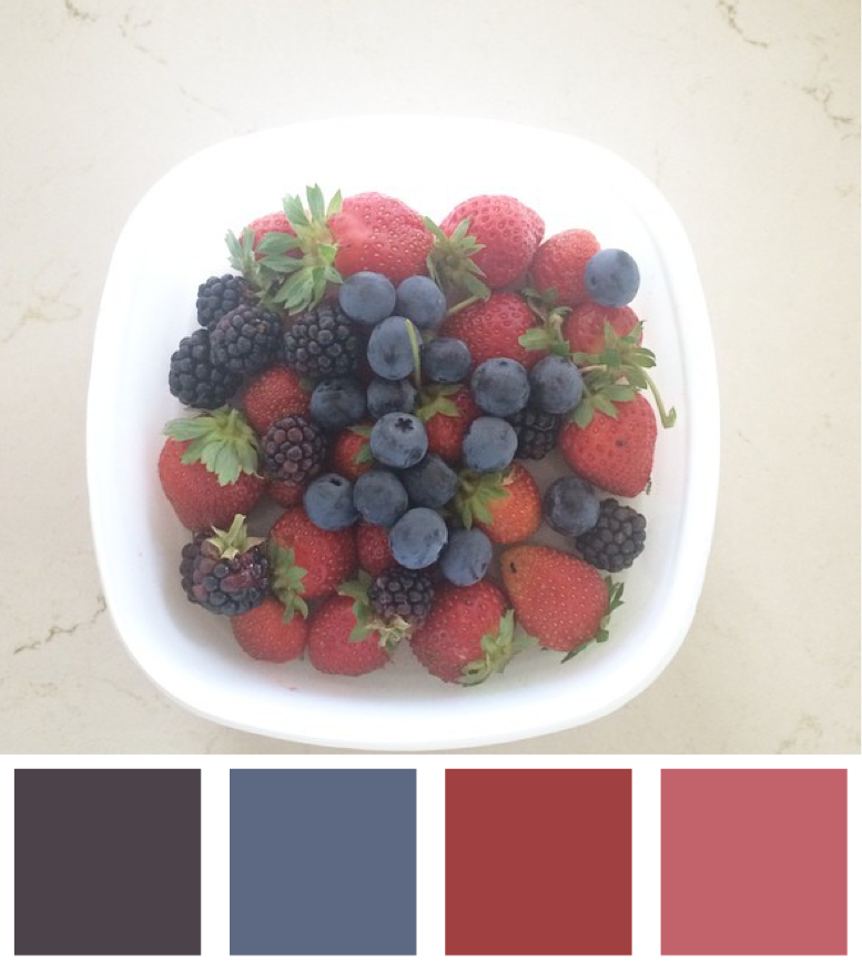 Berries From My Garden Colour Palette