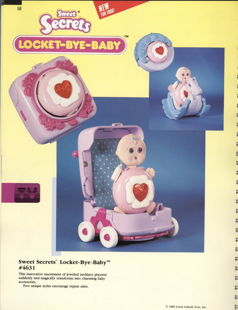 1986 Galoob Sweet Secrets Locket-Bye-Baby