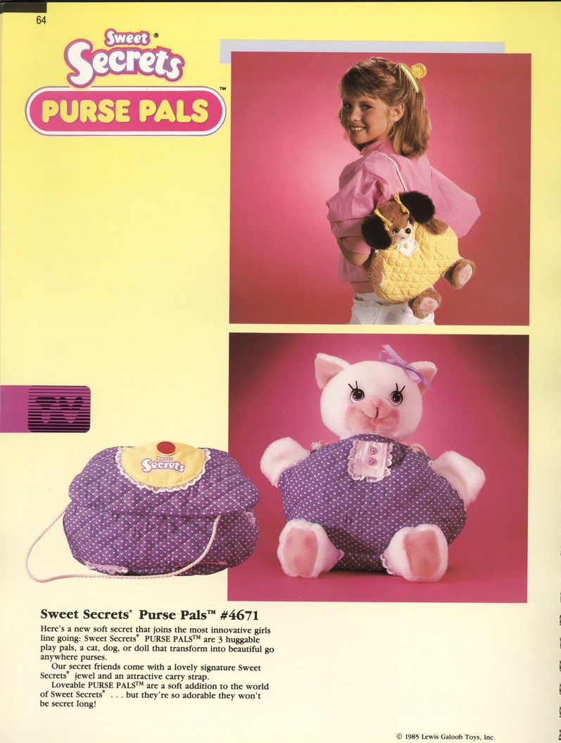 1986 Galoob Sweet Secrets Purse Pals