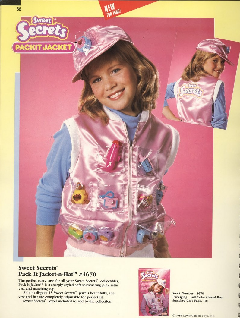 1986 Galoob Sweet Secrets Pack It Jacket N' Hat