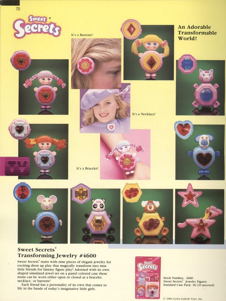1986 Galoob Sweet Secrets Transforming Jewellery Jewelry