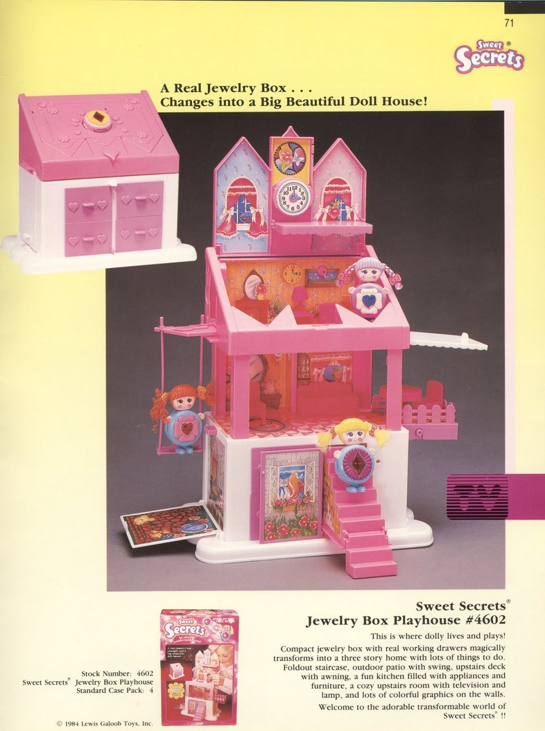 1986 Galoob Sweet Secrets Jewelry Box Playhouse
