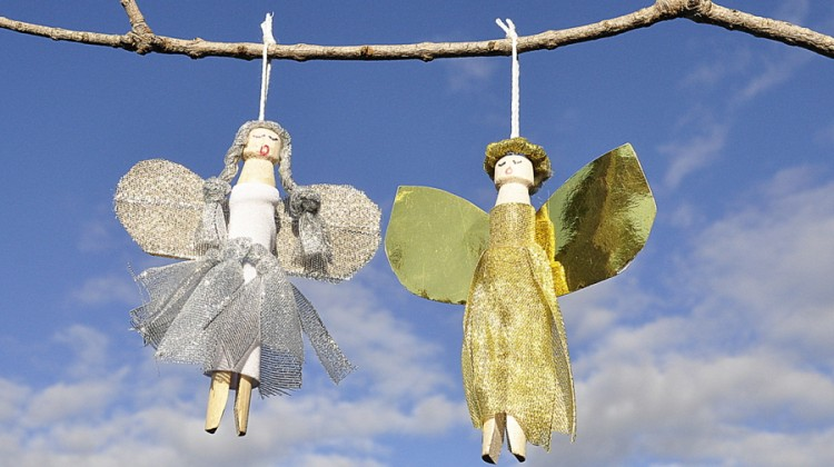 Christmas Craft - How to make a Peg Angel Christmas Decoration