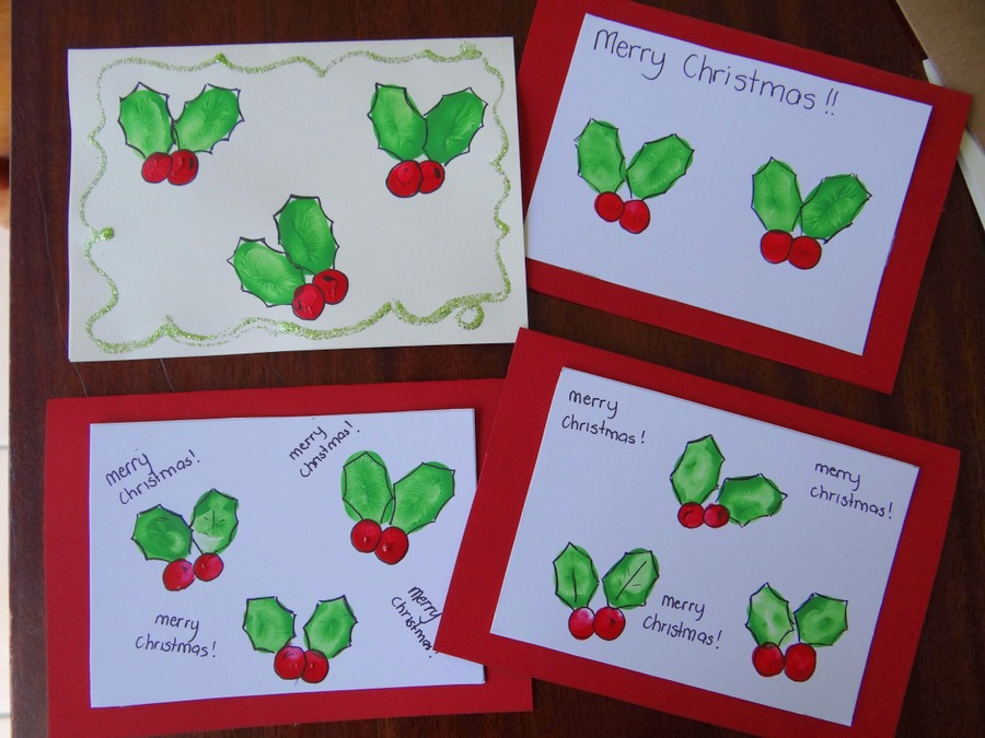 Fingerprint Christmas Cards – Be A Fun Mum