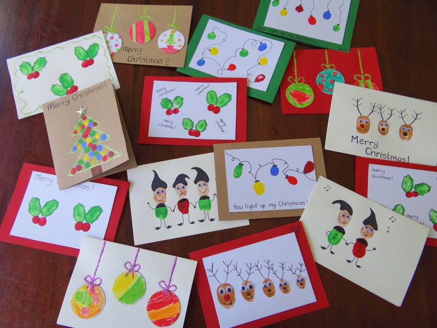 Christmas Cards Using Fingerprints