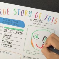 A Story of 2015 – Reflection for Kids