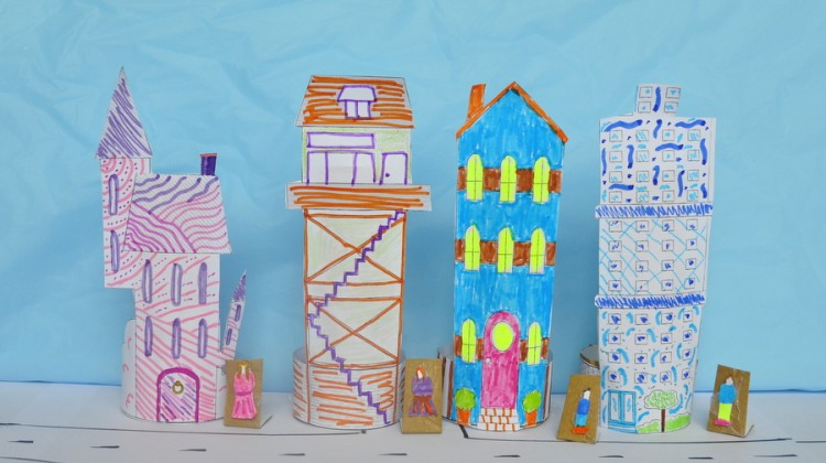Mini Paper Houses Printable: Design a Street