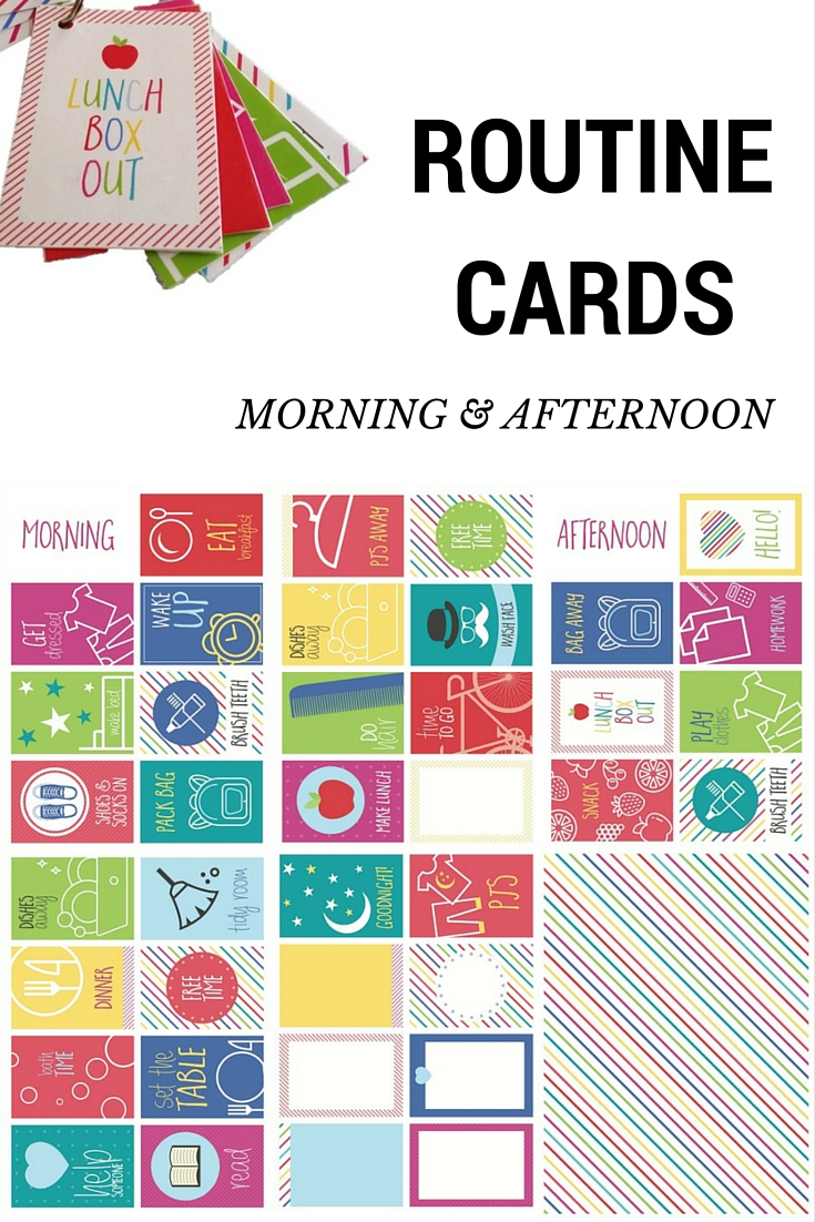 Routine Cards - morning and afternoon