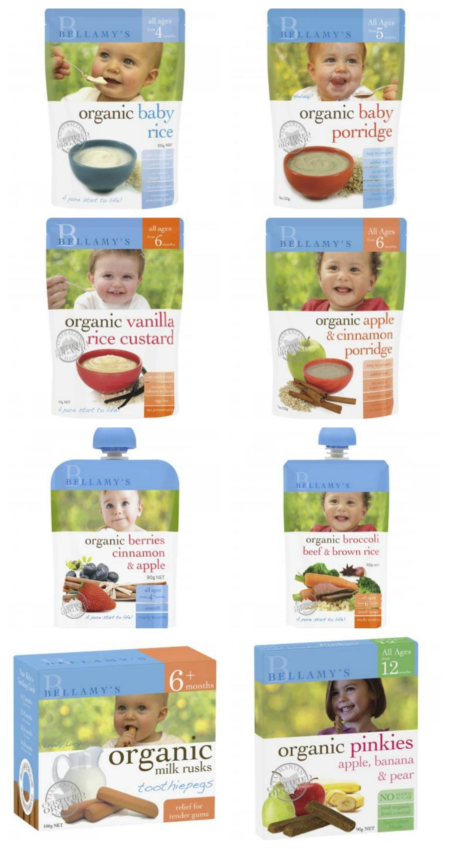 Bellamy's Organics Products