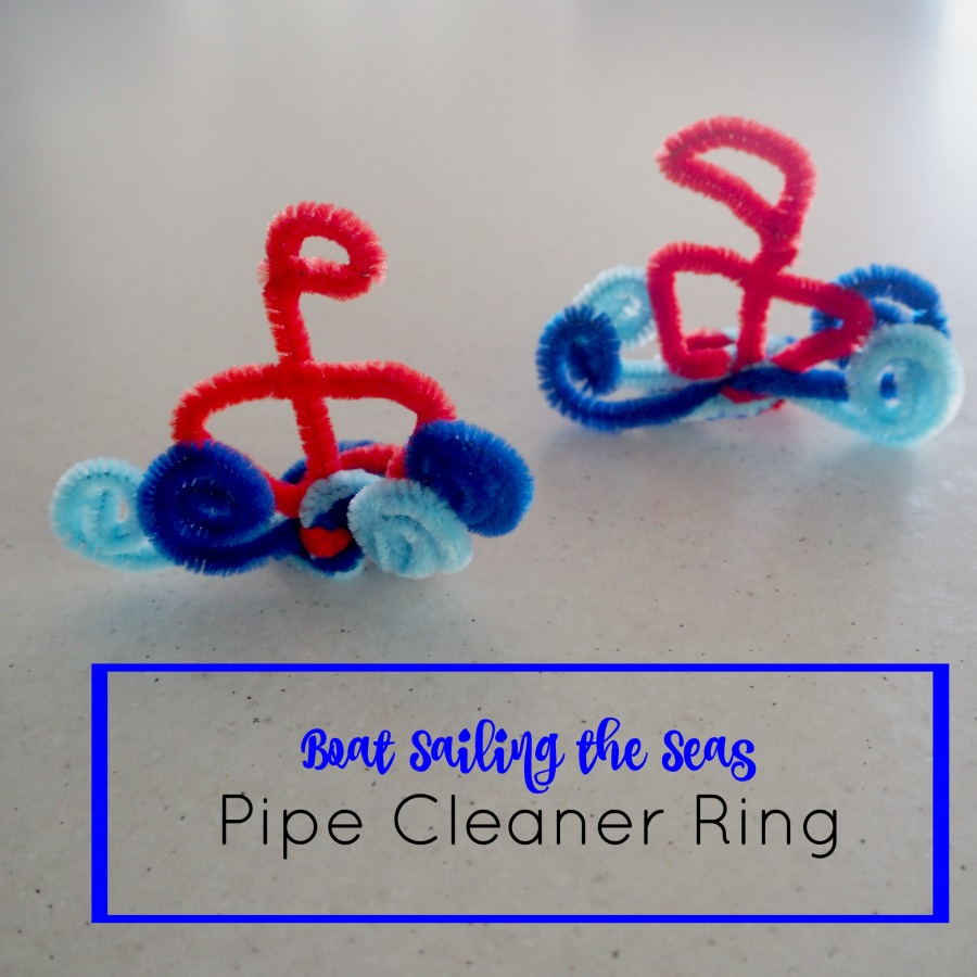boat sailing the seas pipe cleaner ring