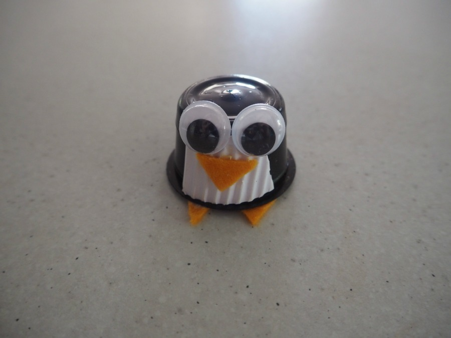 coffee pod penguin craft