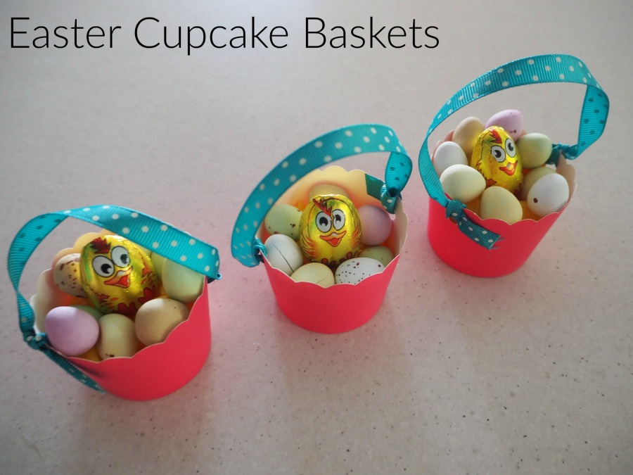 Easter Cupcake Case Baskets