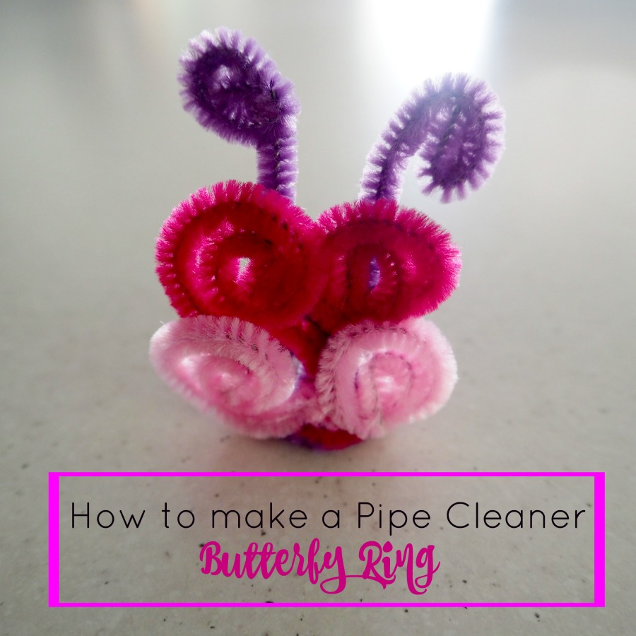 how to make a pipe cleaner butterfly ring