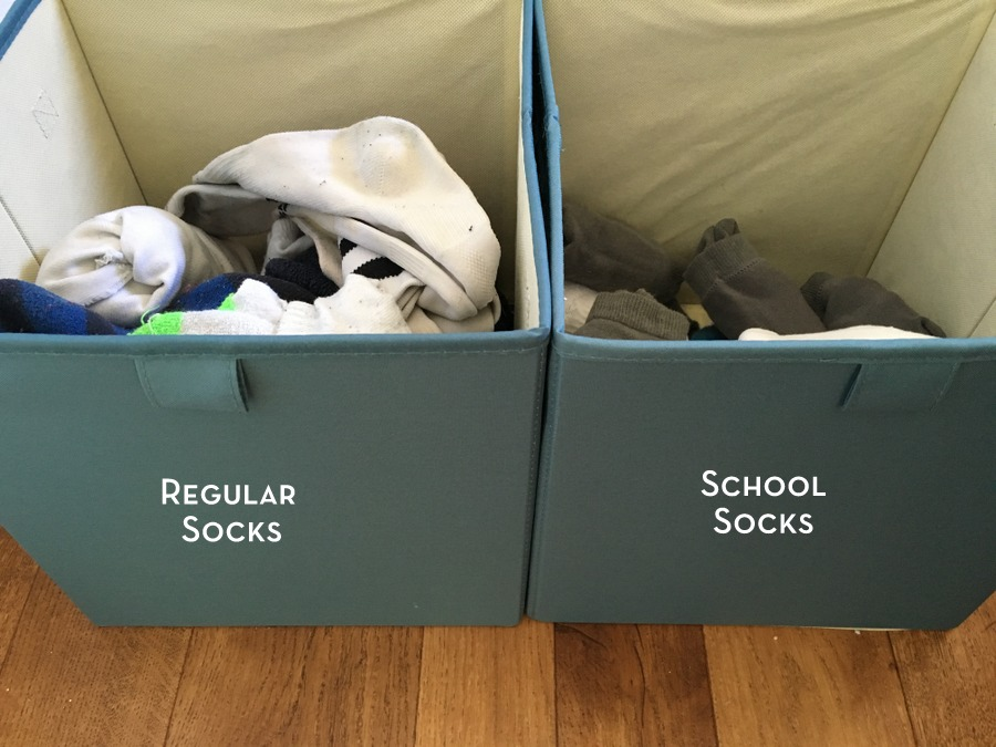 How I organise school socks