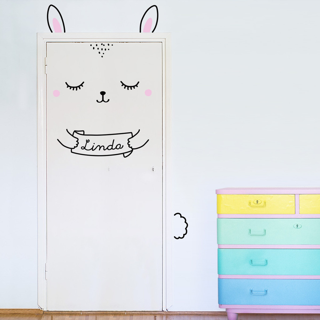 Door Decals - Bunny