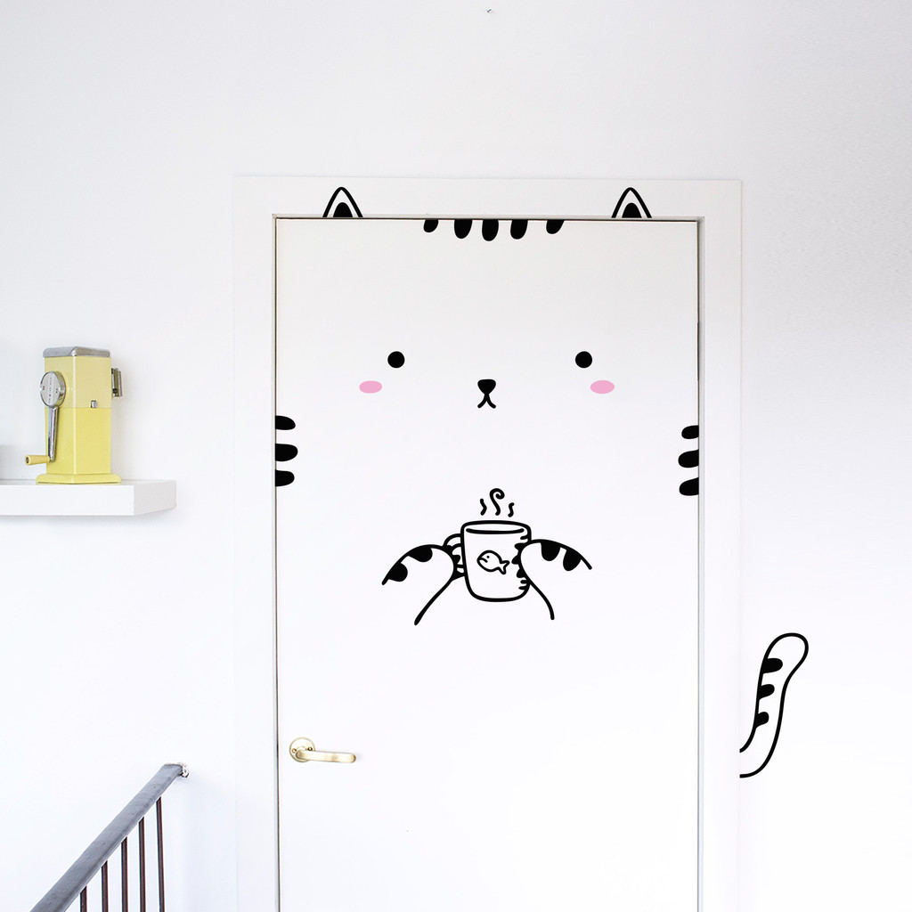 Door Decals - Cat
