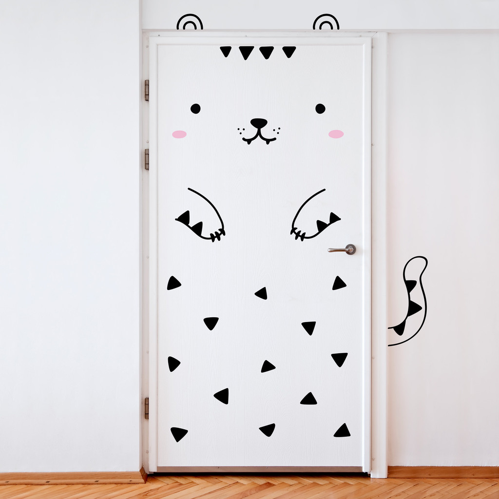 A simple way to decorate a kids bedroom door decals be for Door mural stickers