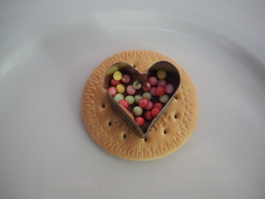 heart freckle biscuits