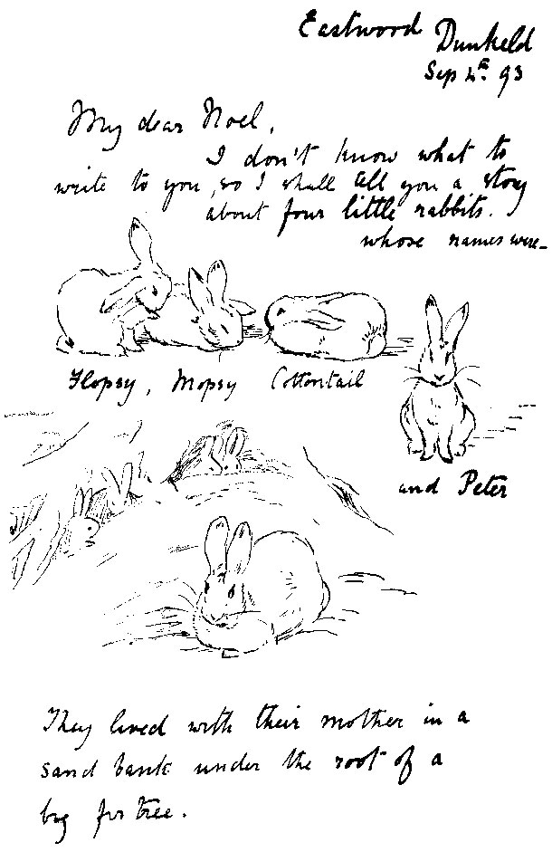 Letter to Noel from Beatrix Potter