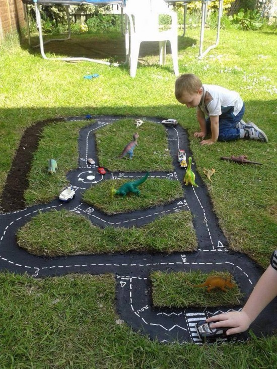 backyard track idea