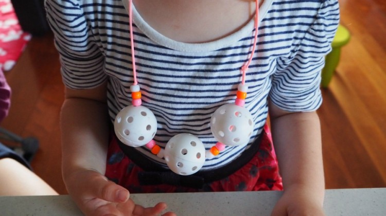 golf ball necklace craft