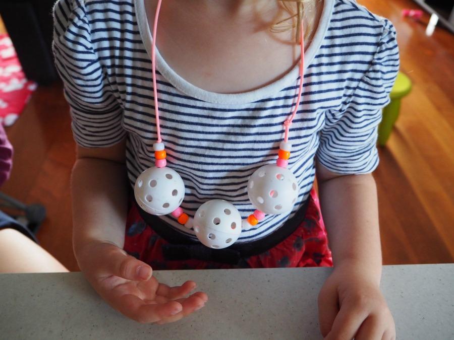 golf ball necklace craft