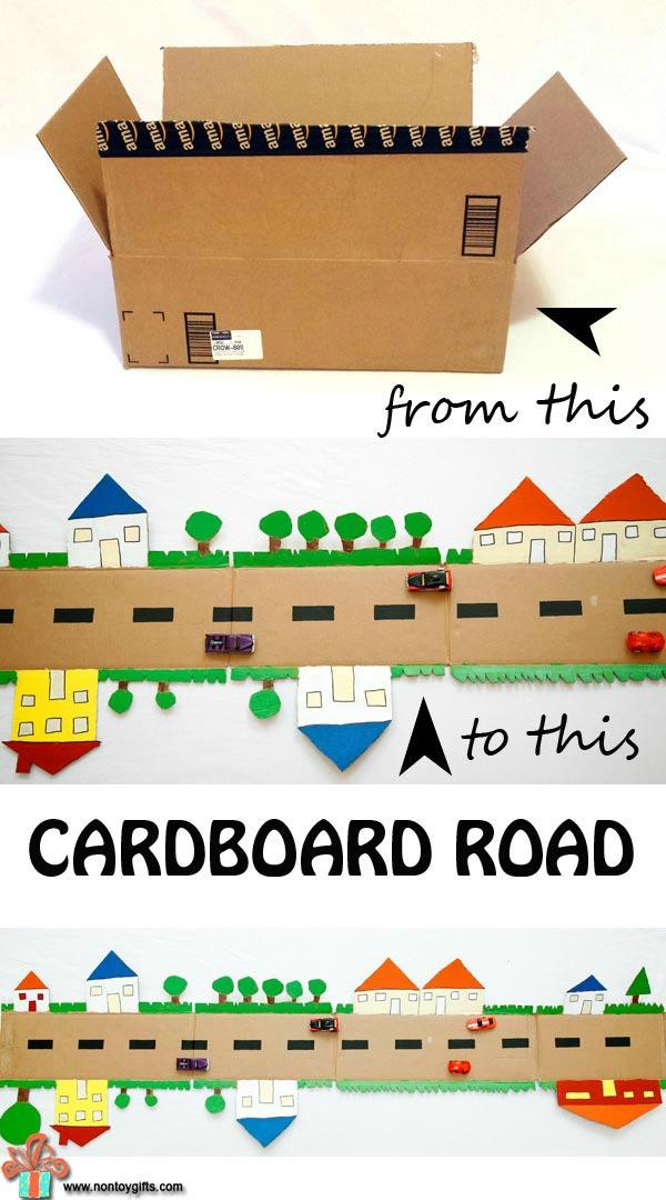 cardboard town planner activity