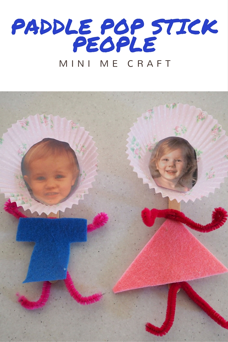 Paddle Pop Stick Mini Me Craft