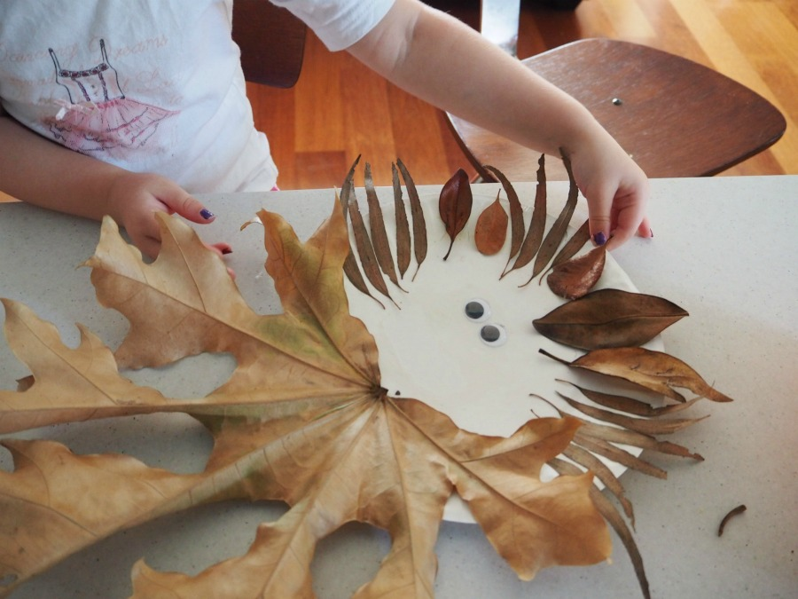 leafy lion face craft
