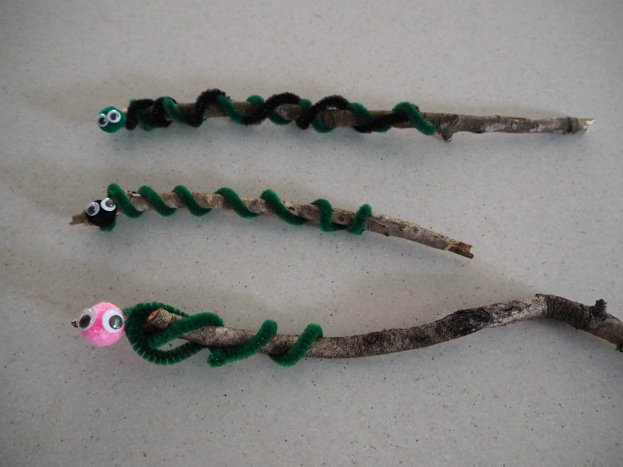 snake on a stick craft