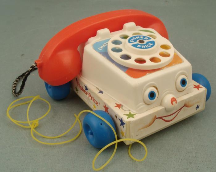 1985 Vintage Fisher Price Telephone Chatter Phone via Icollector