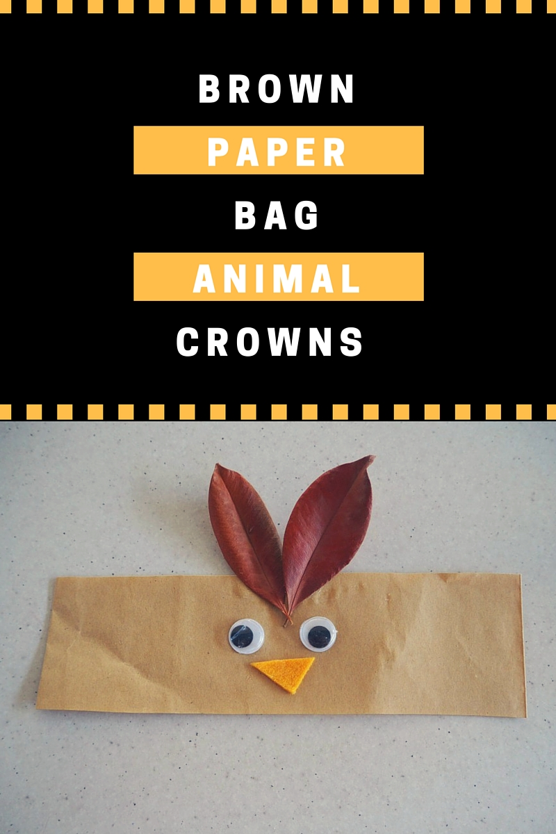 brown paper bag animal crowns