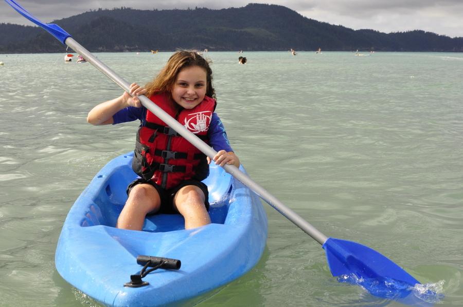 Kayaking at Catseye Beach
