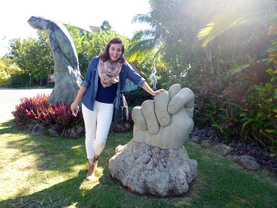 Sculptures near the Marina Village