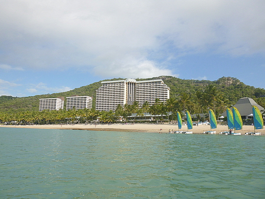 The Reef View Hotel from Catseye Beach