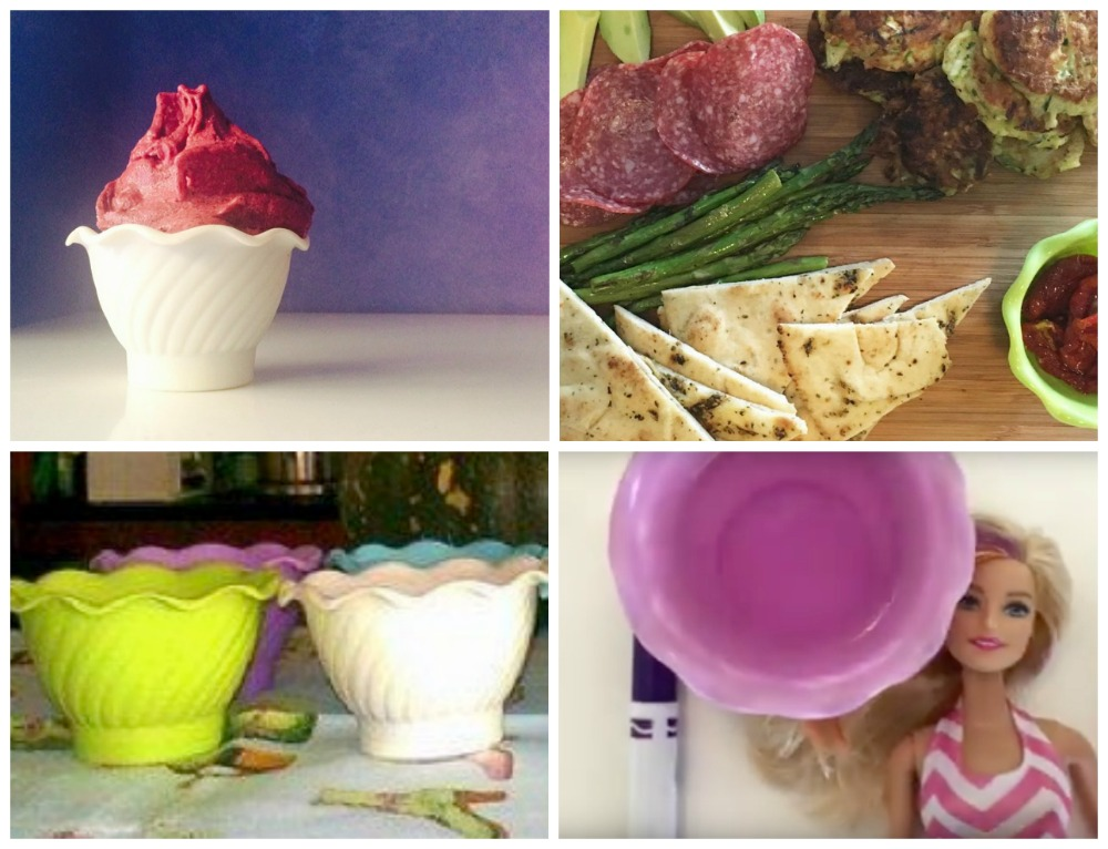 Use little bowls for food - fun for kids
