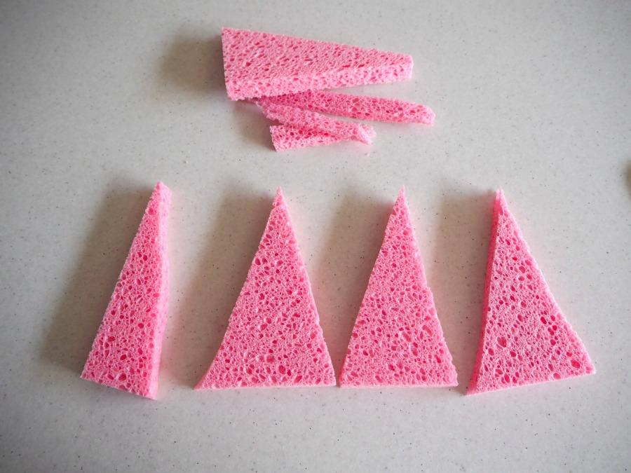 sponge triangles
